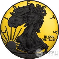 WALKING LIBERTY Gold Shadows 1 Oz Moneta Argento 1$ US Mint 2016