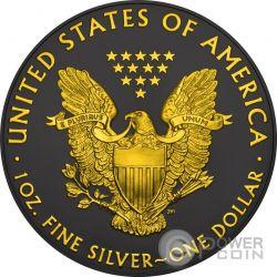 WALKING LIBERTY Gold Shadows 1 Oz Silver Coin 1$ US Mint 2016