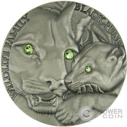BLACK PUMA Wildlife Family 1 Oz Silver Coin 1$ Niue 2016
