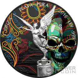 HALLOWEEN Mexican Libertad 1 Oz Серебро Монета Мексика 2016