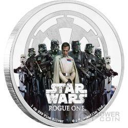 THE EMPIRE Star Wars Rogue One 1 Oz Moneta Argento 2$ Niue 2017
