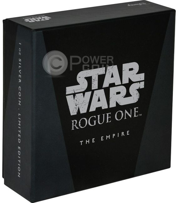 THE EMPIRE Star Wars Rogue One 1 Oz Silber Münze 2$ Niue 2017