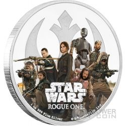 REBELLION Star Wars Rogue One 1 Oz Silver Coin 2$ Niue 2017