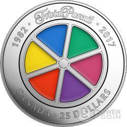 TRIVIAL PURSUIT 35 Anniversario Moneta Argento 25 Dollari Canada 2017