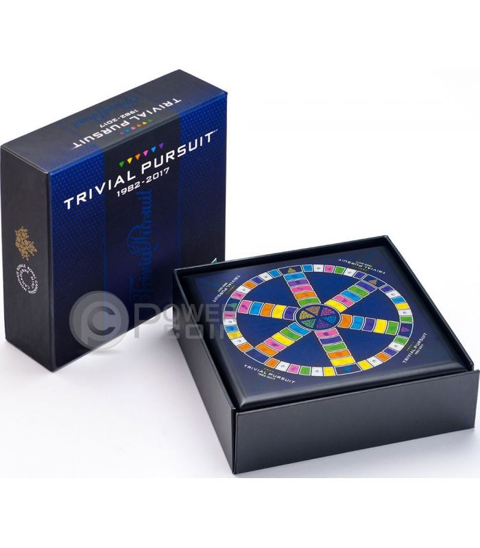 Trivial Pursuit 35 Anniversary Silver Coin 25 Dollars