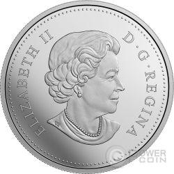 SNOWY OWL Landscape Illusion Moneda Plata 20$ Canada 2017
