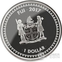 HOKUSAI THE GREAT WAVE Kanagawa 1 Oz Proof Silber Münze 1$ Fiji 2017