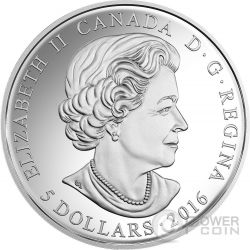 BIRTHSTONES DECEMBER Gemstone Swarovski Silver Coin 5$ Canada 2016