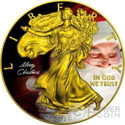CHRISTMAS Walking Liberty 1 Oz Silver Coin 1$ US Mint 2016
