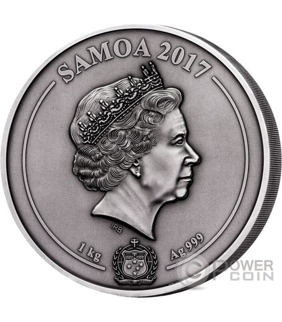 GREEK CHTHONIC GODS Multiple Layer Relief 1 Kilo Silver Coin 25$ Samoa 2017