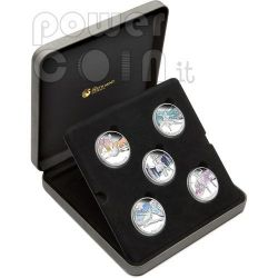 FAMOUS BALLETS 5 Silver Coin Set 1$ Tuvalu 2010
