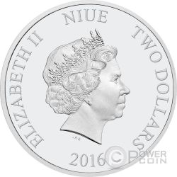 PLANE CRAZY Mickey Through The Ages Disney 1 Oz Silver Coin 2$ Niue 2016