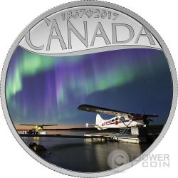 MACKENZIE RIVER FLOAT PLANES Celebrating 150th Anniversary Silber Münze 10$ Canada 2017