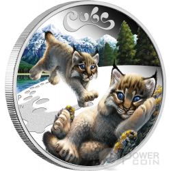 LYNX CUBS Baby Silver Coin 50 Cents Tuvalu 2016
