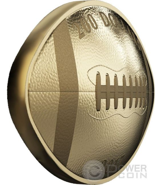 Football Shaped And Curved Convex Gold Coin 200 Canada