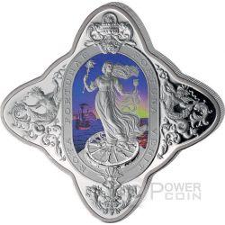 LADY OF FORTUNE Diamondesque Shape 1 Kg Kilo Silver Coin 50$ Tokelau 2016