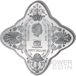 LADY OF FORTUNE Diamondesque Shape 1 Kg Kilo Silber Münze 50$ Tokelau 2016