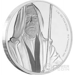 OBI WAN KENOBI Jedi Master Star Wars Classic 1 Oz Silber Münze 2$ Niue 2017