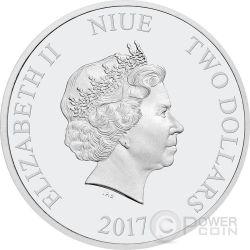 DISNEY LOVE Minnie Mickey Kiss 1 Oz Silver Coin 2$ Niue 2017