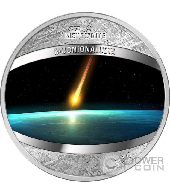 MUONIONALUSTA Iron Meteorite Moneda 1 Dollar Niue 2016