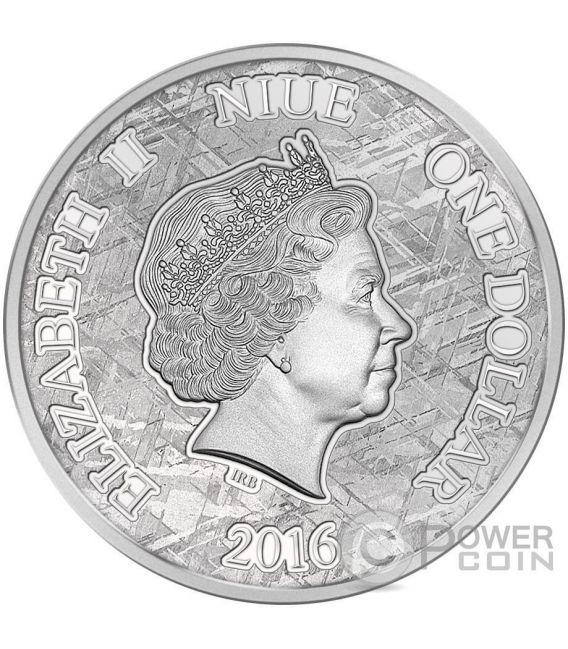 MUONIONALUSTA Iron Meteorite Münze 1 Dollar Niue 2016