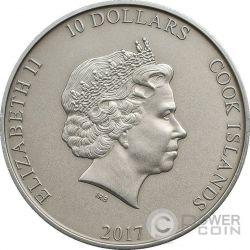 THOR HAMMER Mjollnir 2 Oz Silver Coin 10$ Cook Islands 2017