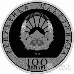 SANCTA TERESIA DE CALCUTTA Canonization Mother Teresa Moneda Plata 100 Denars Macedonia 2016
