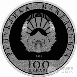 SANCTA TERESIA DE CALCUTTA Canonization Mother Teresa Silver Coin 100 Denars North Macedonia 2016