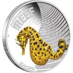 SEAHORSE Australian Sea Life Moneda Plata 50c Australia 2010