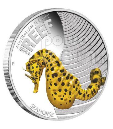 SEAHORSE Australian Sea Life Silver Coin 50c Australia 2010