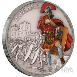 ROMANS Warriors of History 1 Oz Silver Coin 2$ Niue 2017