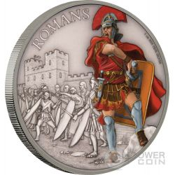 ROMANS Warriors of History Romani Guerrieri della Storia 1 Oz Moneta Argento 2$ Niue 2017