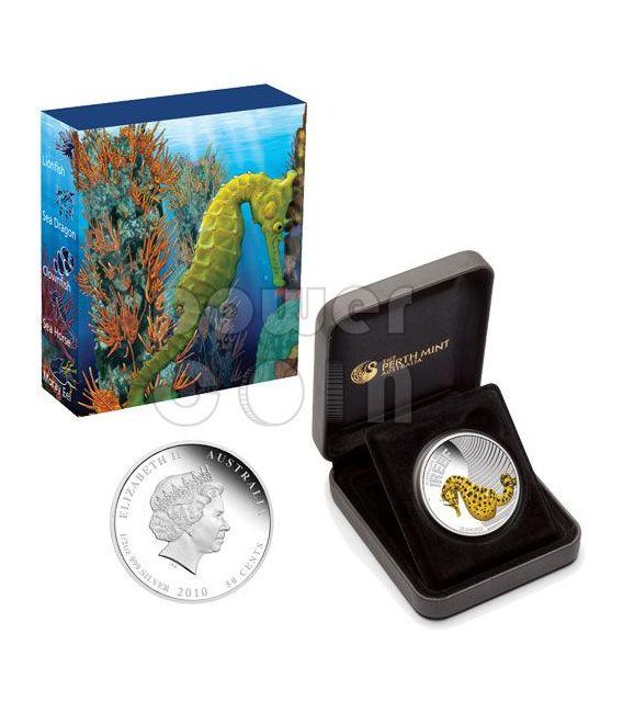 SEAHORSE Australian Sea Life Silber Münze 50c Australia 2010