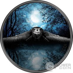 OWL Night Hunters 3 Oz Moneda Plata 2000 Francs Ivory Coast 2017