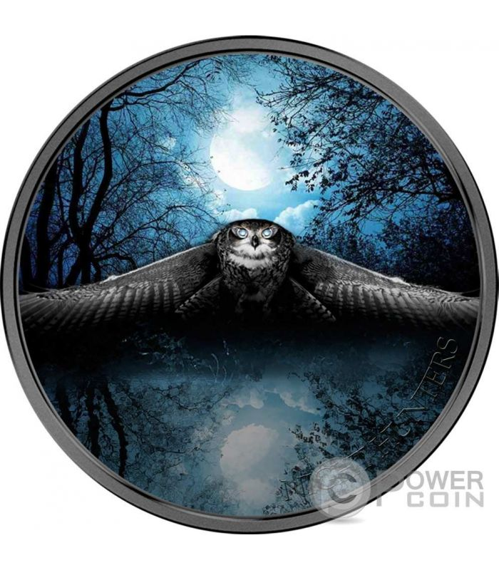 Owl Night Hunters 3 Oz Silver Coin 2000 Francs Ivory Coast