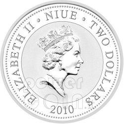 WHITE SWANS Love Is Precious Plata Proof Moneda 2$ Niue 2010