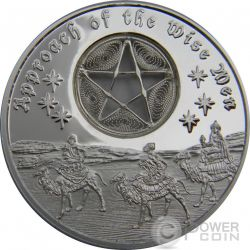APPROACH OF THE WISE MEN Five Pointed Star Magi Christmas 1 Oz Silver Coin 2$ Niue 2016