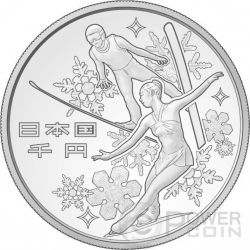 8TH ASIAN WINTER GAMES SAPPORO 1 Oz Plata Proof Moneda 1000 Yen Japan 2017