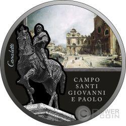 CAMPO SANTI GIOVANNI E PAOLO Canaletto SOS Venice 1 Oz Moneta Argento 2$ Niue 2016