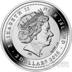 CAMPO SANTI GIOVANNI E PAOLO Canaletto SOS Venice 1 Oz Silver Coin 2$ Niue 2016