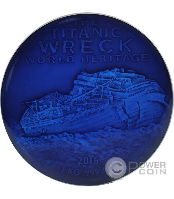 DEEP SEA TITANIC Wreck World Heritage 1 Kg Kilo Silver Coin 10000 Francs Benin 2016