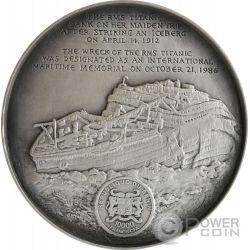DEEP SEA TITANIC Relitto Wreck World Heritage 1 Kg Kilo Moneta Argento 10000 Franchi Benin 2016
