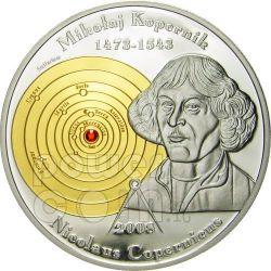 COPERNICO Niccolo Moneta Argento 5$ Cook Islands 2008