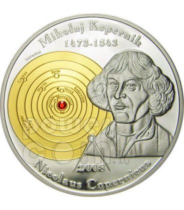 COPERNICUS Nicolaus Silver Coin 5$ Cook Islands 2008