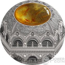 BAROQUE Barocco Amber Art Ambra 2 Oz Moneta Argento 5$ Niue 2016