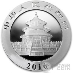 BIG BANG PANDA Moneda Plata 10 Yuan China 2016