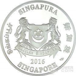 SINGAPORE BOTANIC GARDENS Unesco World Heritage Site 1 Oz Silver Coin 5$ Singapore 2016