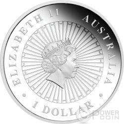 YEAR OF THE ROOSTER Australian Opal 1 Oz Silber Münze 1$ Australia 2017
