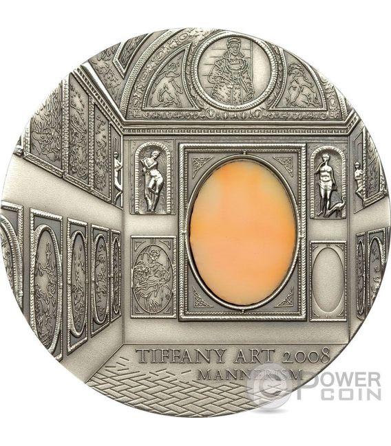 TIFFANY ART MANNERISM Manierismo Palazzo Farnese Caprarola 2 Oz Moneta Argento 10$ Palau 2008