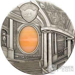 TIFFANY ART MANNERISM Palazzo Farnese Caprarola 2 Oz Серебро Монета 10$ Палау 2008